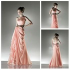 Best Selling Beautiful Sweetheart One-Shoulder Pink Chiffon Evening Dress In Stock