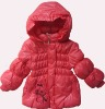 Children girl's hoody padding soft handfeel winter coat stock
