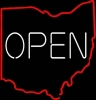 State OPEN neon sign