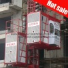 Double cage 2ton rated load weighing building elevator equipment