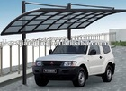 5.1x2.7m Aluminium car canopy with polycarbonate sheet roof