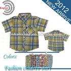 fashion style kid wear boy's short sleeve casual shirt