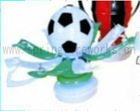 HOT!!! Football shap musical candle cake fireworks