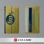 pvc gift card embossed number with silver/gold color