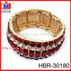 Fashion gold plated rhinestone bracelet
