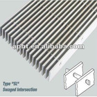 Electro galvanized steel grating standard size (HT-GG-012)