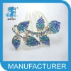 hair combs with rhinestone leaf crystal hair comb 2012 hot hair jewelry