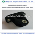 Plastic injection mould with metal inserts