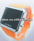 square led lcd watch bright color silicon watch gift set