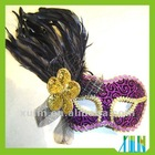 Deluxe Different Design Of Venice Velvet Masks With Feather