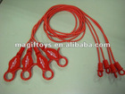 "36""Assorted Color Bungee Cord Lanyard"