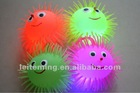 3.5cm soft flashing stress light-up sun smile puffer ball toy