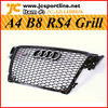 Black RS4 Grill Grille For Audi A4 B8