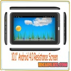 "10.1"" Android 4.0 Allwinner A10 512 MB 4GB/8GB Resistance Screen"