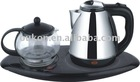 Electric Kettle (ceramic) with glass tea pot