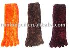 fashion toe socks by feather yarn