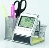 Universal Pen Holder with Cardcase and Clock