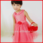 2012 classics style red wedding dress for kids
