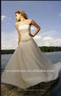 Vintage Ball Gown Applique V-Back Strapless Taffeta Wedding Dress BGWD017