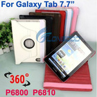 "360 Rotating Leather Cover Case Stand For Samsung Galaxy Tab 7.7"" P6800 P6810"