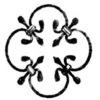 Decorative wrought iron component