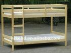( WJZ-B16 ) solid pine wood kids bunk bed
