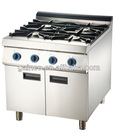 Gas range with 4-burner & oven