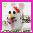 925 Silver Core Lampwork Glass Animal Beads Wholesale