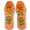 Delicate shoes insoles with embroider
