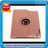 Pink leather case for IPAD,for 9.7inch tablet pc leather case
