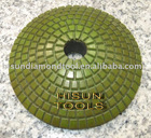 "4""(100mm) with 2.5mm dry flexible polishing pad for Terrazzo/Concrete/Engineered Stone/Porcelain/Quartz"