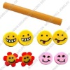 Polymer clay fruit sticks,mix-color,3-5mm, sold per group of 100pcs