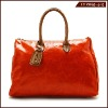 Square shape full grain/cowhide plain leather ladies tote bag