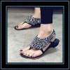 Newest shiny Black crytal stud studded women Summer Sandals
