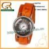 2012 Fashion Led Antique Genuine Leather Bracelet Wrap Watch D00002Z