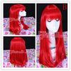 55cm long RED Anime straight Cosplay wig CW143-B