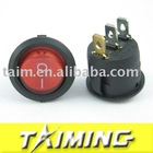 Round switch KCD1-105N red