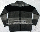 2013 Men Gradient Shawl Cardigan with Zipper