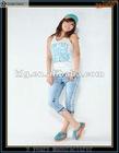 2012 Hot sale light blue cotton korea jeans