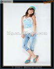 2012 Hot sale light blue cotton korea jeans