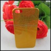 0.3mm Ultrathin Titanium Mesh Metal Back Snap-on Case Cover for Apple iPhone 5 Generation - Gold