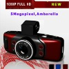 5.0 Megapixel 120 Degrees View Angle Lens 1080P Full HD Portable Mini Size Black Box HD GPS Car DVR Camera