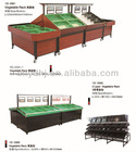Yuanda Wholesale and Manufacturer Supermarket Various Design Vegetable and Fruit Display Shelf Rack