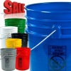 5 gallon HDPE gasketed plastic pails with child-drowning labels