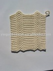 Supply Handmade Crochet Cotton Square Cup Mat ( 7006)