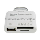 Cheapest 5 in1 USB Camera Connection Kit SD TF M2 MMC MS Card Reader Adapter For iPad 2 3