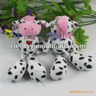 2012 new hot plush cow keychain