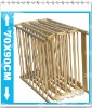 wooden baby playpen with gate