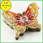 Butterfly Shaped Home Decoration Metal Jewelry Case/Box(FB008495)