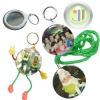 [JETYOUNG]Pin Badge Making-Mirror Key Chain 44 58mm, and other: Opener, Cartoon Chain, Hang Badge